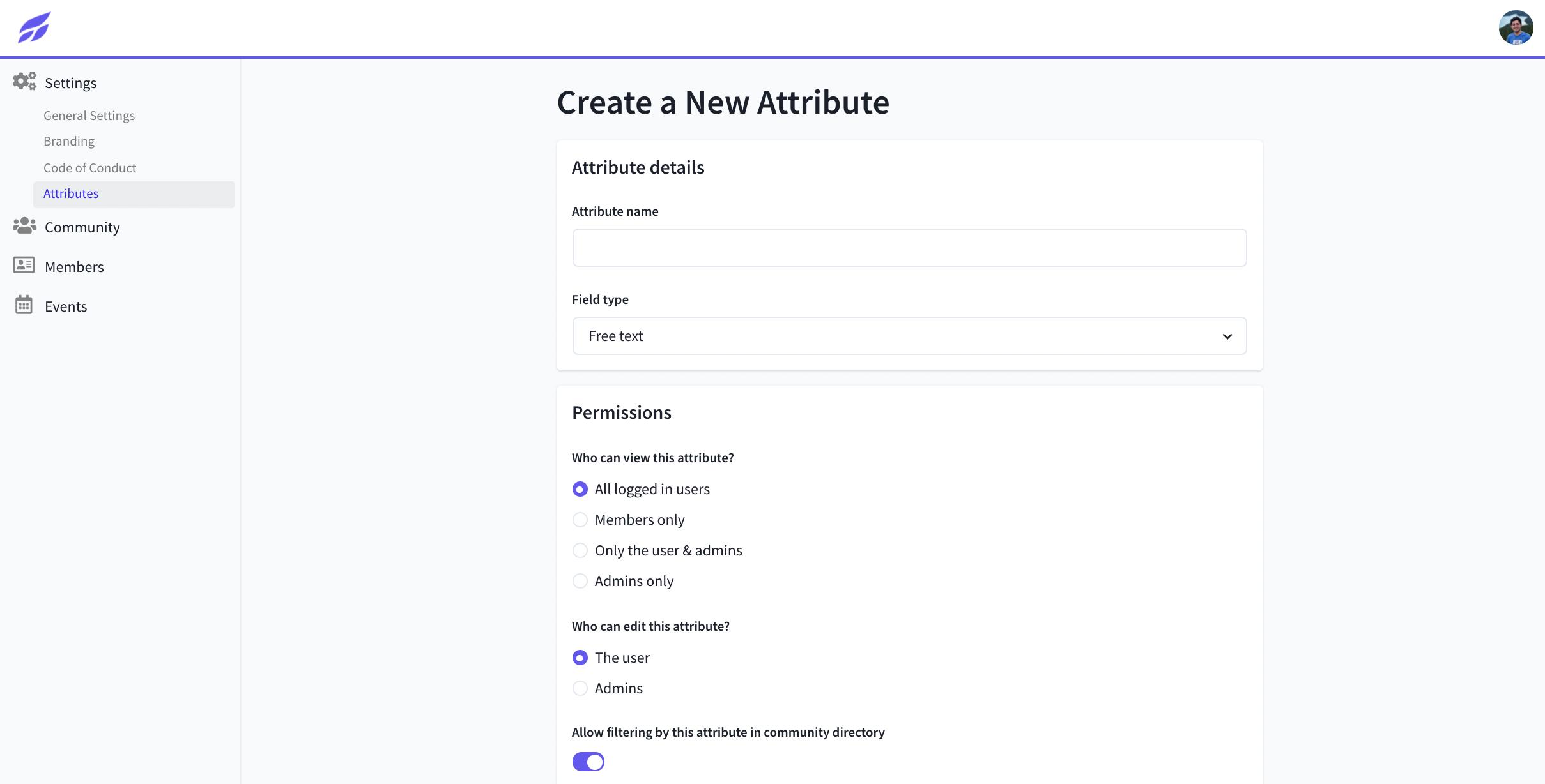 Creating New Member Attributes