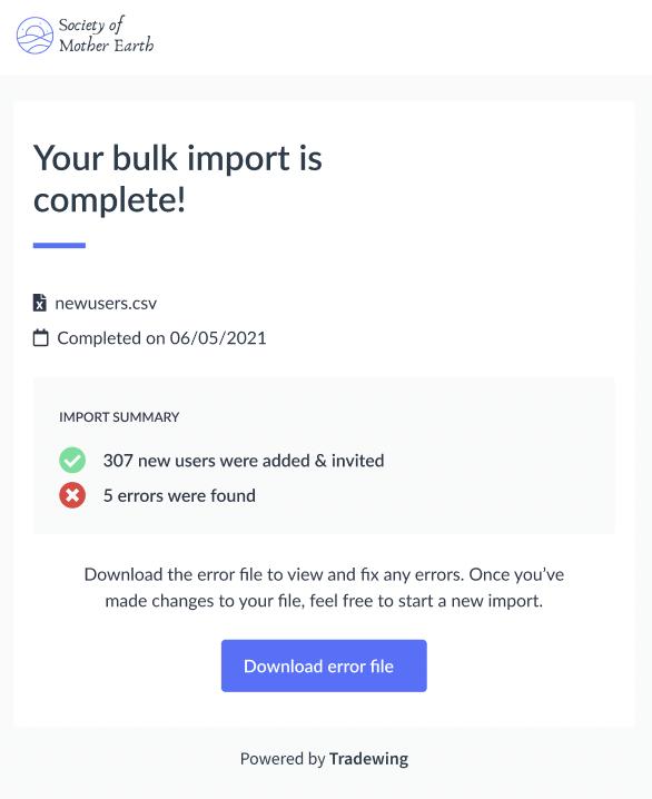 Tradewing Bulk Member Imports